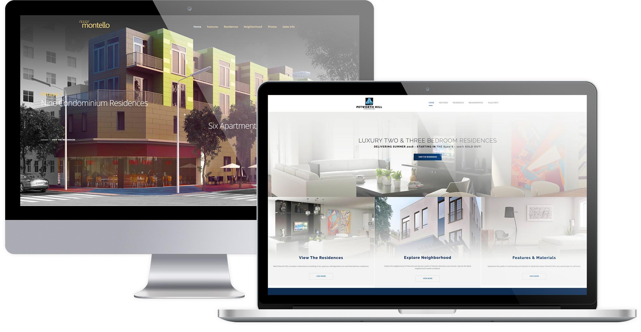 Custom real estate project website development